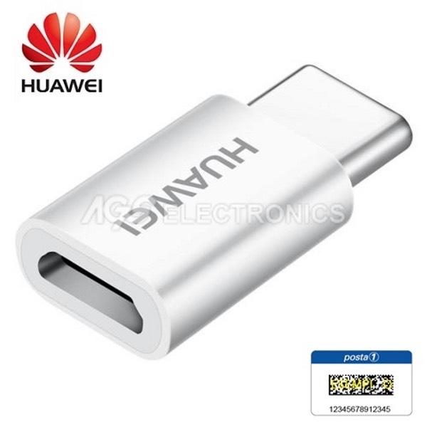 ADATTATORE ORIGINALE HUAWEI AP52 da TIPO C a MICRO USB PER P9 P10+ PLUS