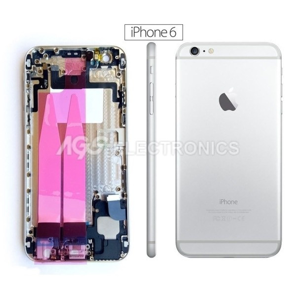 Back Cover COMPLETO Per apple iphone 6 Bianco SILVER Copribatteria posteriore
