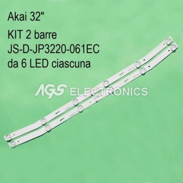 KIT 4 BARRE STRIP LED TV AKAI JS-D-JP3220-041EC 32LED38P AKTV3221