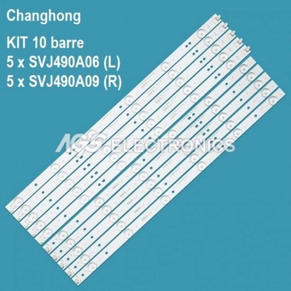 kit 10 barre 49C1000 49D1000 LB-C490F13-E2-L-G1-LD1 LD2 SE1 RF-AC490E30-0601R-01