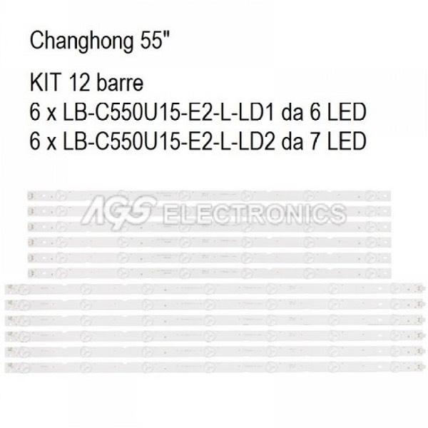 KIT 12 BARRE STRIP LED TV CHANGHONG LB-C550U15-E2-L
