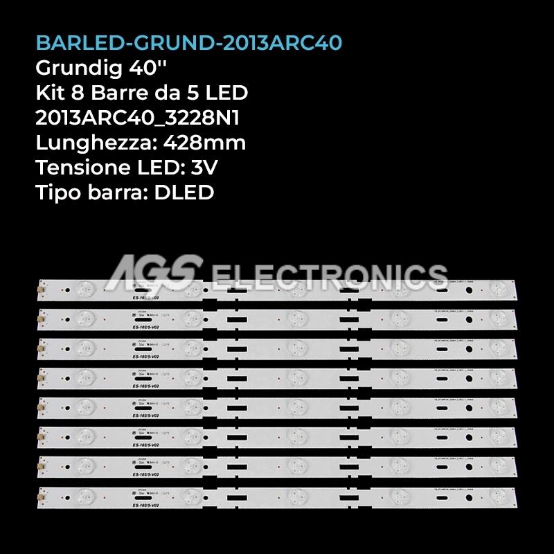 KIT 8 BARRE STRIP LED GRUNDIG 2013ARC40_3228N1 2013HI400 759551878600