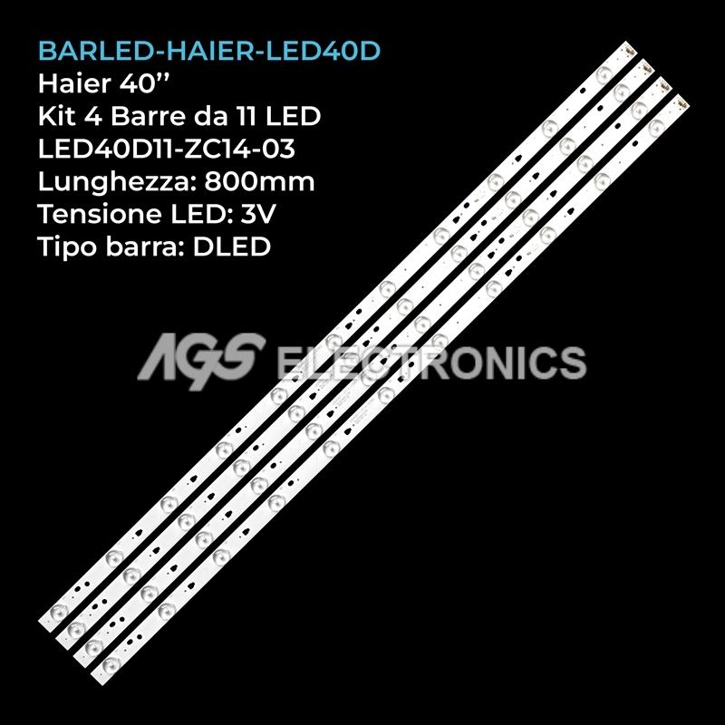 KIT 4 BARRE STRIP 11 LED TV HAIER LED40D11-ZC14-03