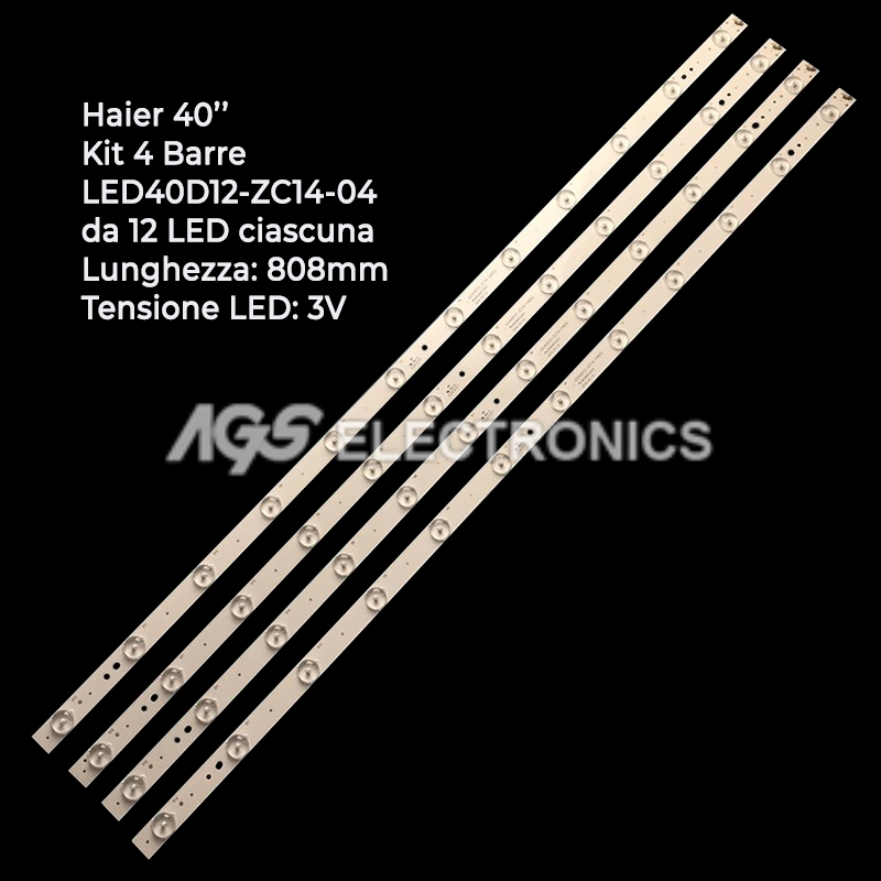 KIT 4 BARRE STRIP LED TV HAIER LED40D12-03 LED40D12-ZC14-04 LSC400HN02 40E3500C