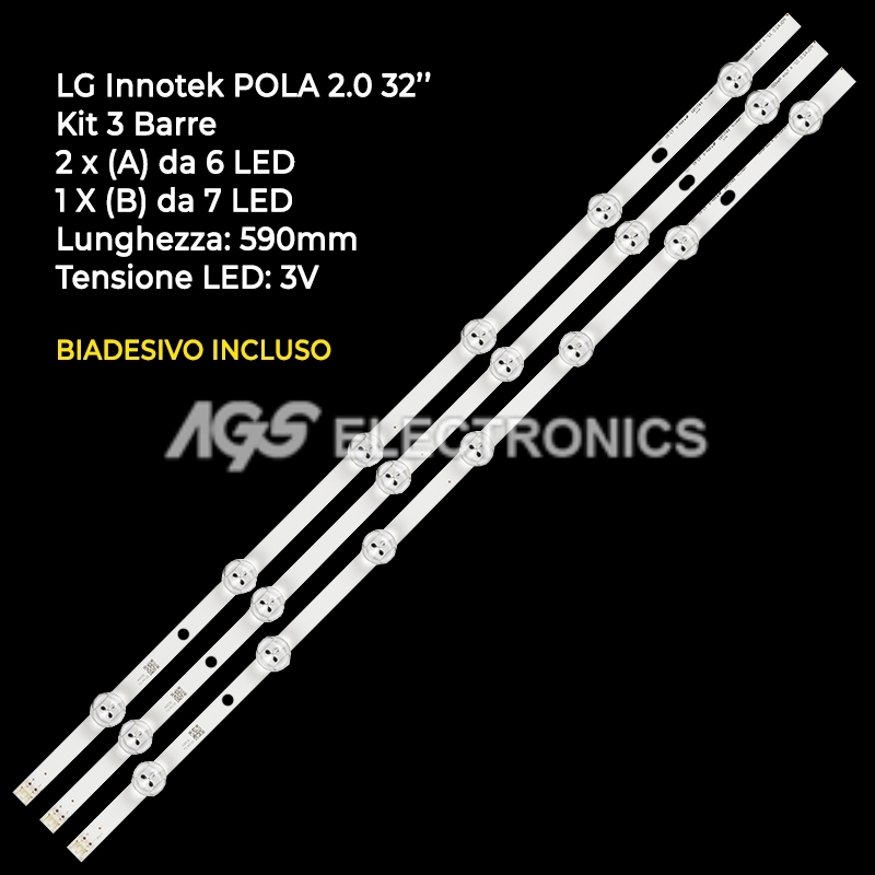 STRIP LED TV AGF78399401 LG INNOTEK POLA2.0 32LN536B HC320DXN-VSFP4-21XX