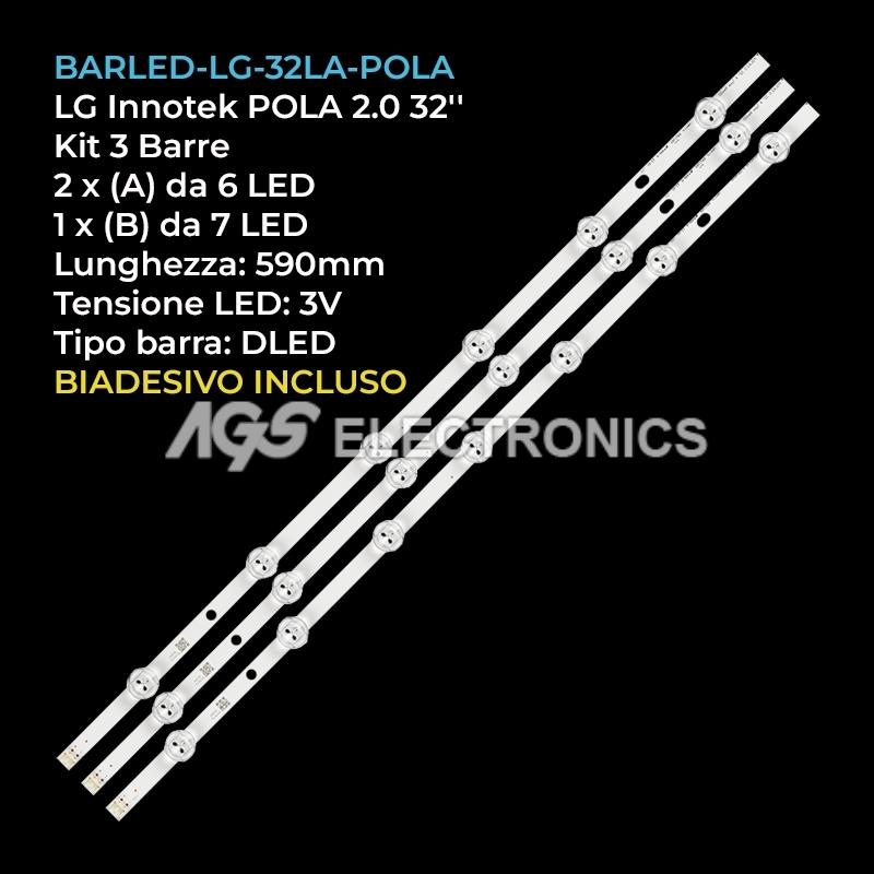 STRIP LED TV AGF78399401 LG INNOTEK POLA2.0 32LN536B HC320DXN-VSFP4-21XX