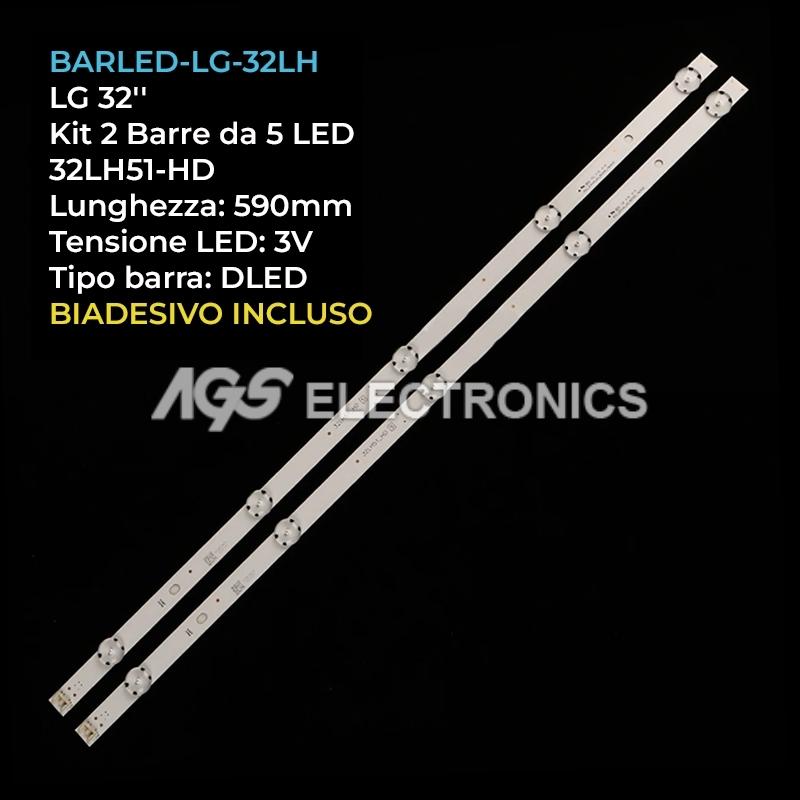 KIT 2 BARRE STRIP LED TV LG AGF79046701 AGF79082601 32LH51HD SVL320AL5