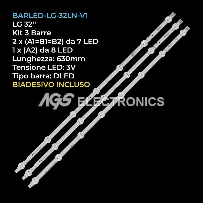 BARRE STRIP LED AGF78399301 AGF78399201 LC320DXE-SFR1 LC320DXE-SGR1 LG 32LN5700