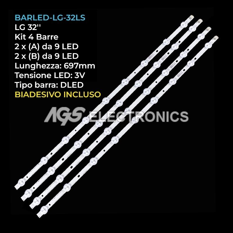 KIT 4 BARRE 2A  2B STRIP LED TV LG 32LS3400 LC320DXN 6916L-0881A