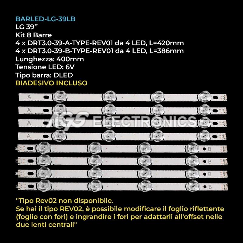KIT LED strips LG INNOTEK DRT 3.0 AGF78400501-601 A/B 39LB580V 39LB570V 39LB561V