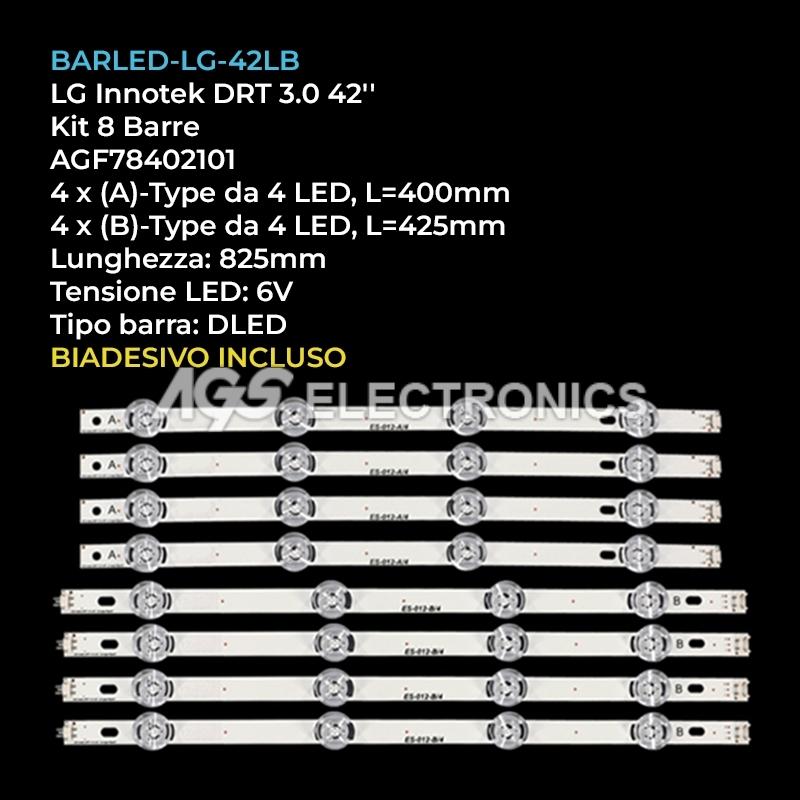 BARRE STRIP LED LG INNOTEK KIT TV LG 4A  4B 42p. 42LB550V 42LB5800 42LB5500