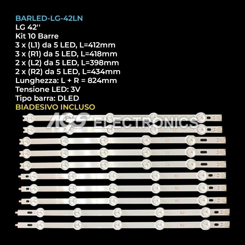 BARRE STRIP LED AGF78326501 AGF78435101 LG 42LN575V 42LN578V 42LN5400 LC420DUE