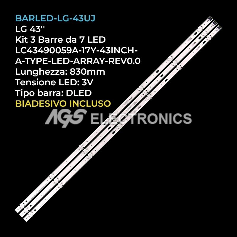 KIT 3 BARRE STRIP LED TV LG AGF78860201 AGF79078001 AGF79097901 EAV63673003