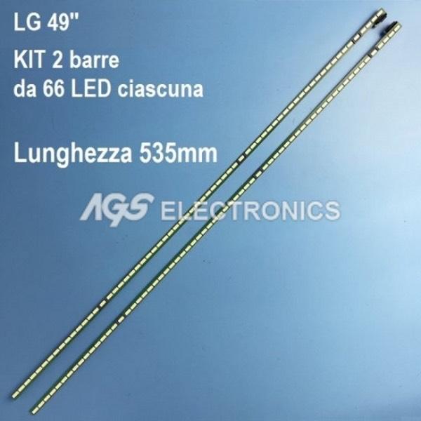 KIT 2 BARRE DA 66 LED TV LG  6916L-1722B 6916L-1722B 49UB30V LC490EQE