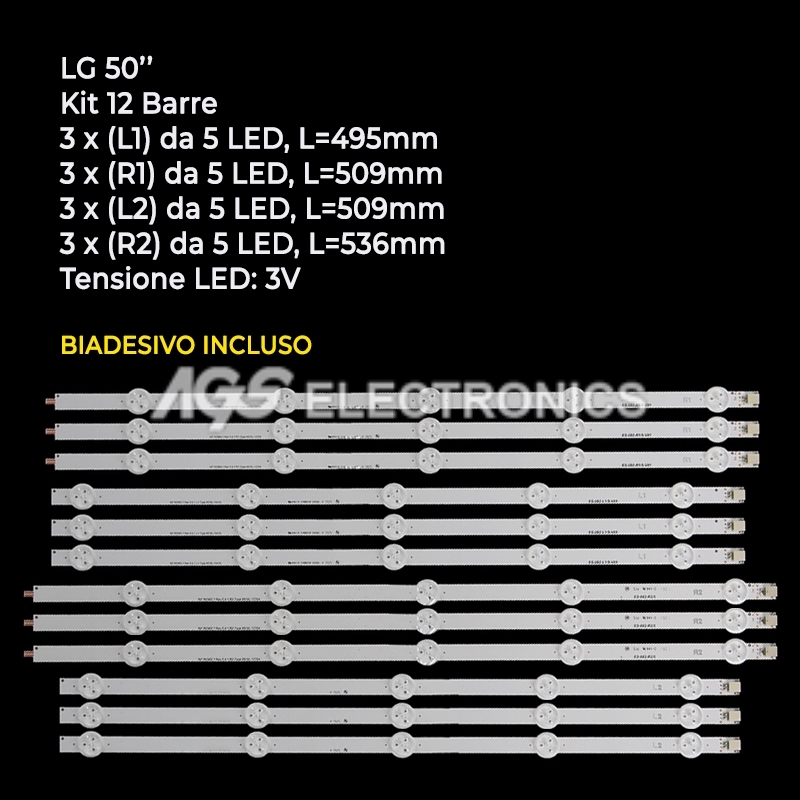AGF78401201 Kit LED LG AGF78180301 AGF78240901 LC500DUE-SFR2 LC500DUE-SFU1