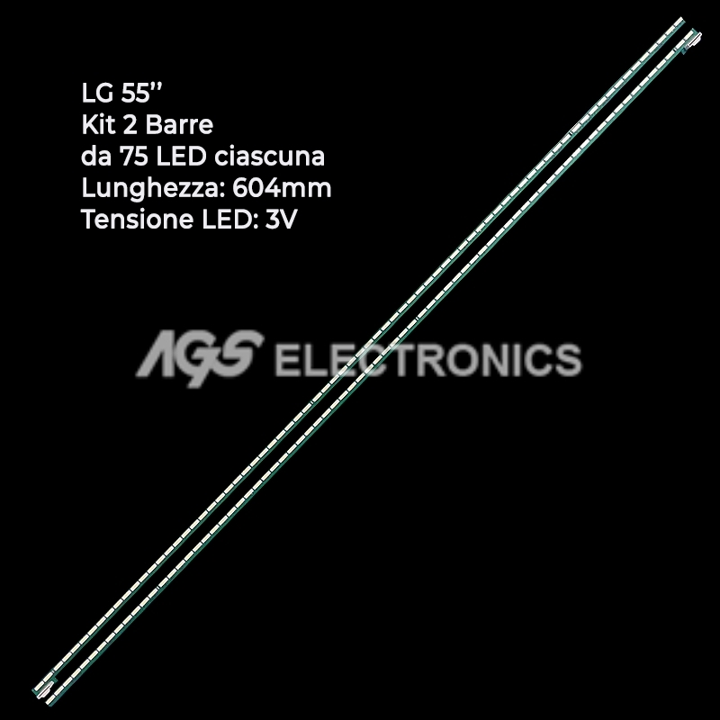 KIT 2 BARRE STRIP LED TV LG 6916L-1209B 6920L-0001C 6922L-0069A LC550EU 55LA