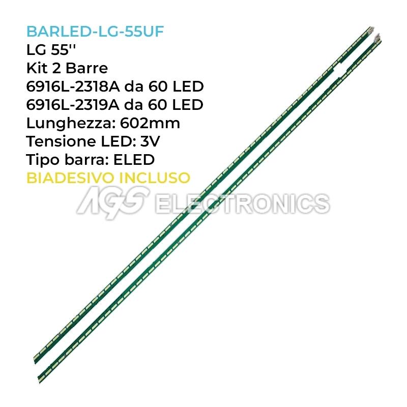 KIT 2 BARRE STRIP 60 LED TV LG 55TA04  6916L-2318A 6916L-2319A LC550EGE 55UF6807