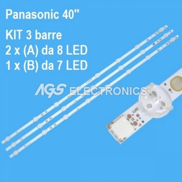 BARRE STRIP LED KIT TV PANASONIC TX40C200E VES400UNDS2DN TOSHIBA 40L1653DB
