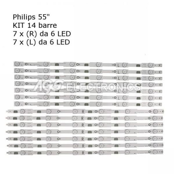 KIT 14 BARRE STRIP LED TV PHILIPS 996598003929 TPT550J1QVN03U 55PUH6400