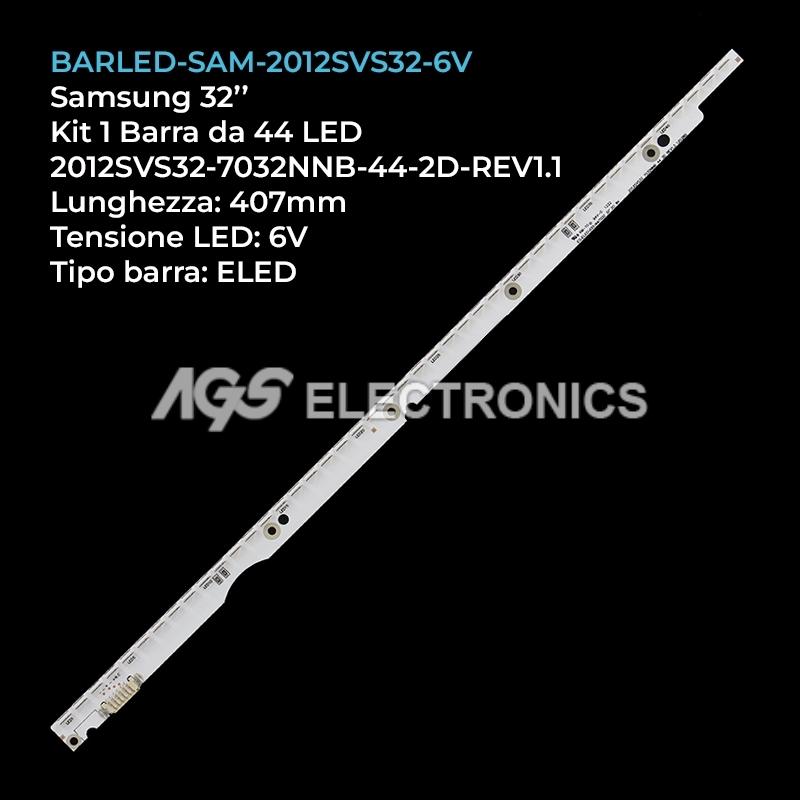 BARRA DA 44 LED 6V PER TV SAMSUNG V1GE-320SM0-R1 2SVS32 LE320CSMC1