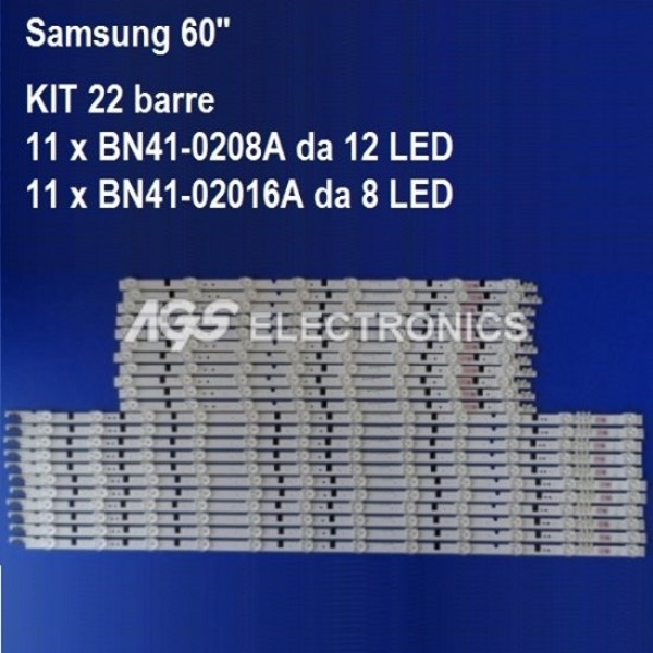 KIT 22 BARRE STRIP LED TV SAMSUNG BN41-0208A BN41-02016A UA60F6400 UE60F6300
