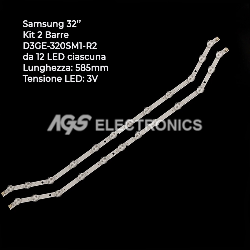 BARRE STRIP LED SAMSUNG KIT 2 strisce  D3GE-320SM1-R2 BN96-28763A UE32H5303AK