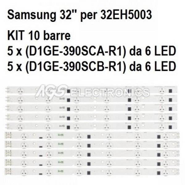 KIT 10 BARRE STRIP LED TV SAMSUNG 39EH5003 D1GE-390SCA-R1 D1GE-390SCB-R1