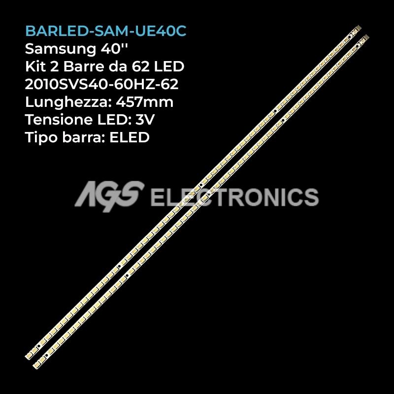 BARRA 62 LED STRIP LED TV SAMSUNG 2010SVS40-60HZ-62 LJ64-02609A LMB-4000BM11