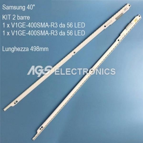 KIT 2 BARRE STRIP 56 LED TV SAMSUNG BN96-21460A UE40ES5500 T400HVN010 2012SVS40