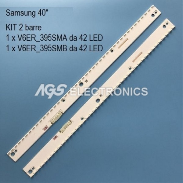 KIT 2 BARRE STRIP LED TV SAMSUNG BN96-39627A BN96-39628A UE40MU7000
