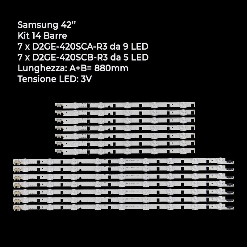 BARRE STRIP LED  KIT SAMSUNG D2GE-420SCA-R3 D2GE-420SCB-R3 2013SVS42F UE42F5300