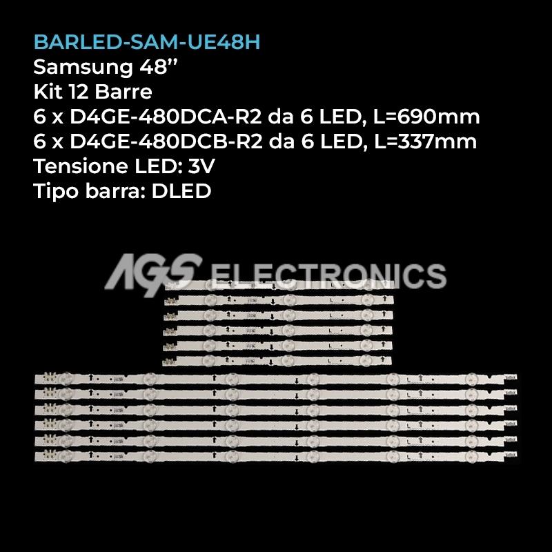 BARRE STRIP LED KIT SAMSUNG D4GE-480DCA-R3 D4GE-480DCB-R3 2014SVS48F UE48H UE48J