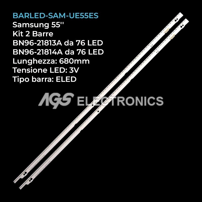 KIT 2 BARRE STRIP 76/80 LED TV SAMSUNG 2012SVS55 BN96-21814A UE55ES6300