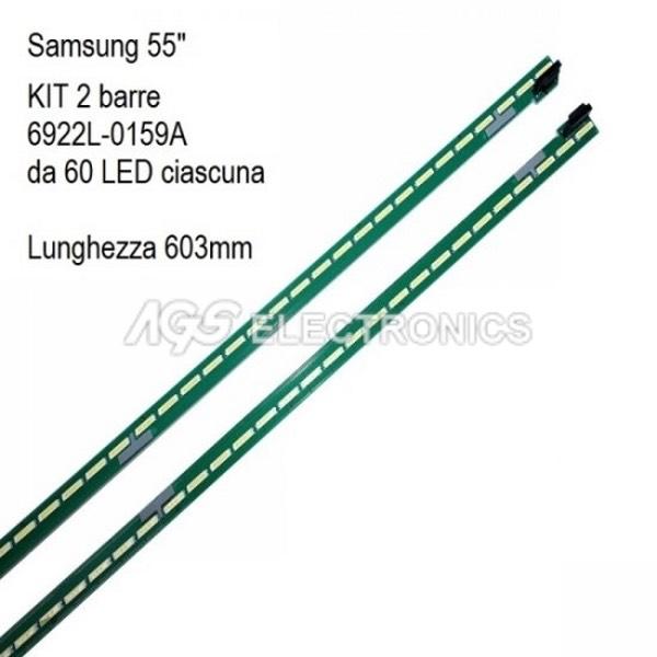 KIT 2 BARRE STRIP LED 60 TV SAMSUNG 6922L-0189A 6922L-0199A AGF79080101 V16_ART3