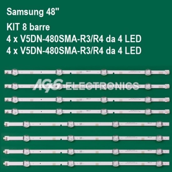 KIT 8 BARRE STRIP LED TV SAMSUNG  BN96-37296A BN96-37297A 2015SVS48