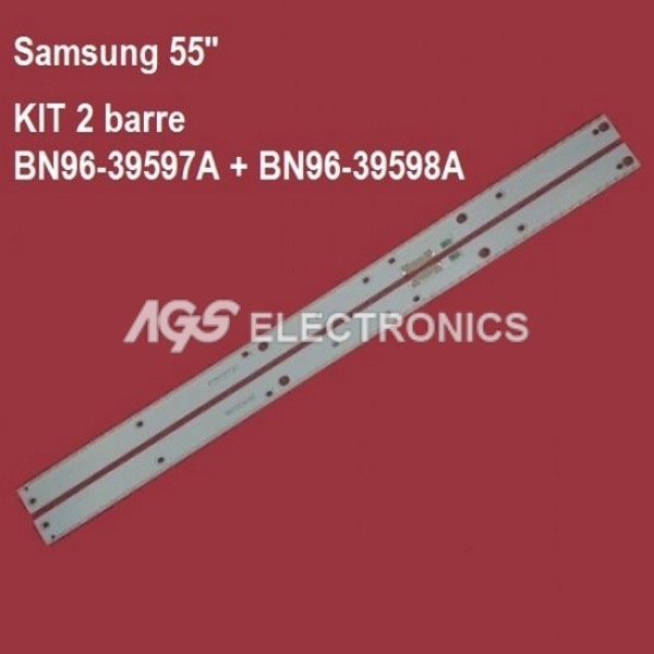 BARRE STRIP LED KIT 2 pezzi SAMSUNG BN96-39595A BN96-39596A UE55KU UK55MU