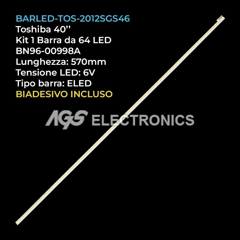 BARRE STRIP LED KIT TV TOSHIBA 64 LED BN96-00998A 46L5200U LTA460HN05 LTA460HW04