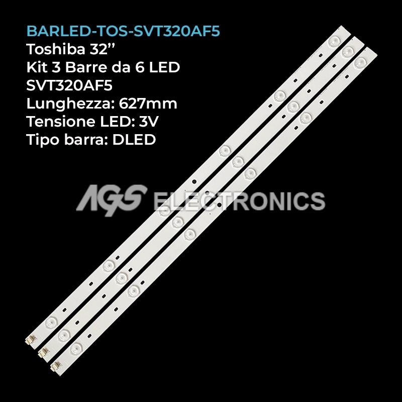 BARRE LED KIT 3 pezzi per Toshiba SVT320AF5_P1300_REV03_130402 32P1400 32P2400