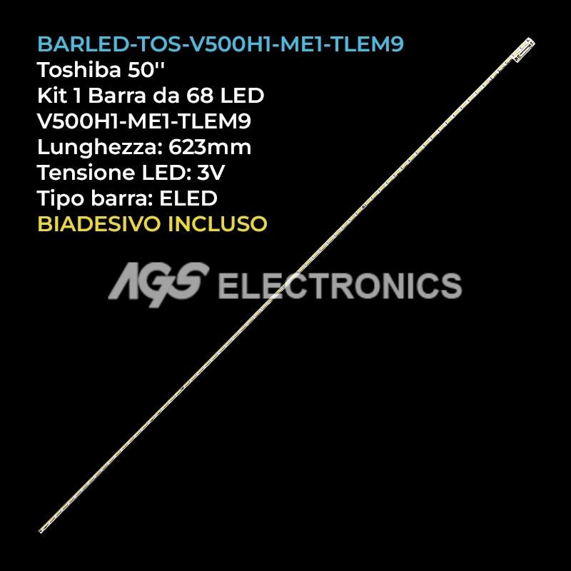 BARRA 68 LED STRIP LED TV TOSHIBA V500H1-ME1-TLEM9 50DU6000 50L3400U