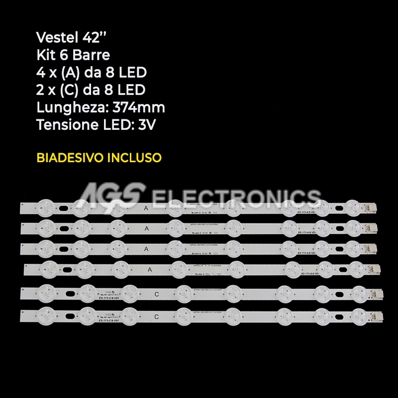 BARRE STRIP LED KIT VESTEL 23283025 VES420UNDLN-01 42HXT12U , 42HXT42U HITACHI
