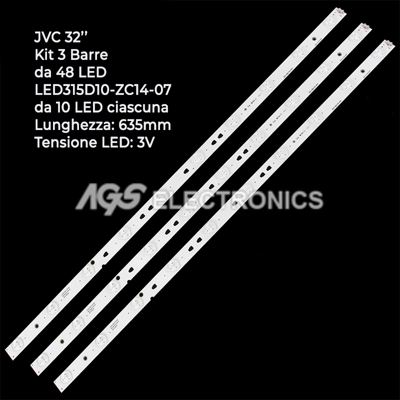 KIT 3 BARRE STRIP LED JVC LC320DXJ LSC320AN LT32C350 LT32C461 KENNEX MSDV3235Y