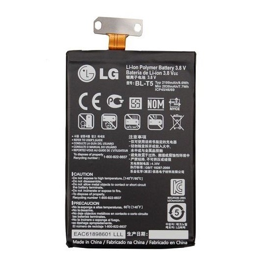 BATTERIA ORIGINALE LG BL-T5 PER NEXUS4, E975, E973, E970, F180, 2100MAH BLT5