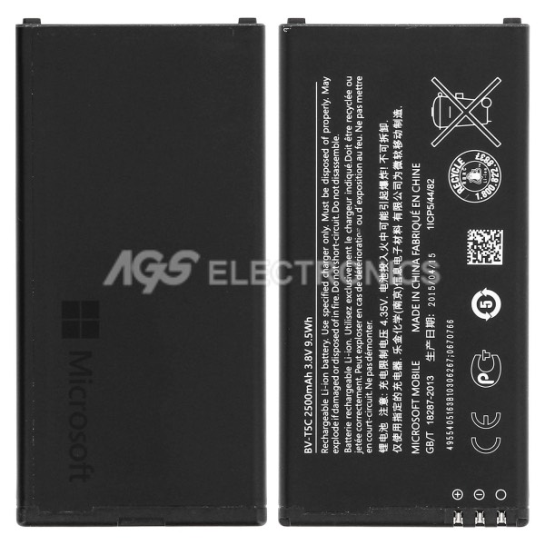 BATTERIA ORIGINALE BV-T5C per NOKIA Microsoft Lumia 640 Dual Sim 2500mah 3.8V