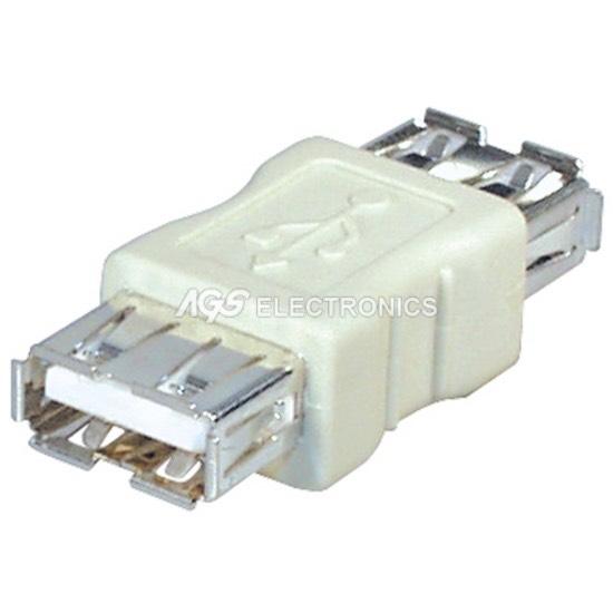 USB-001 ADATTATORE CONNETTORE accoppiatore USB FEMMINA/FEMMINA CAVO PROLUNGA F/F