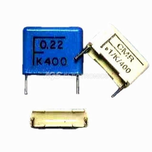 2 x Condensatore poliestere passo 15mm CMR15 150K 400V (2 pezzi)