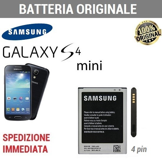 Batteria ORIGINALE SAMSUNG EB-B500BE NFC 4 contatti Galaxy S4 MINI i9190 I9195