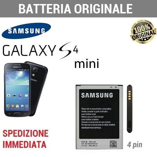 Batteria ORIGINALE SAMSUNG EB-B500BE NFC 4 contatti Galaxy S4 MINI i9190 I9195