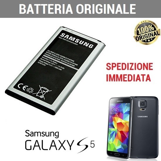 Batteria 2800mAh Originale Samsung Galaxy S5 Note2 EB-BG900BBE , EB-BG900BE