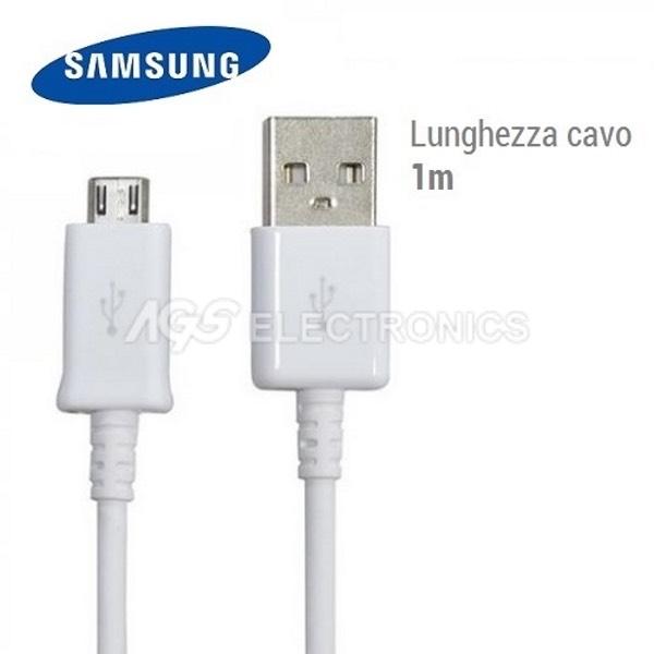 Cavo MICRO USB Originale Per SAMSUNG S4 S5 S6 Note Sincronizza ECB-DU4AWE-BULK