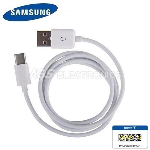 CAVO DATI ORIGINALE SAMSUNG EP-DW700CWE USB TIPO C PER GALAXY S8 S8+ BIANCO